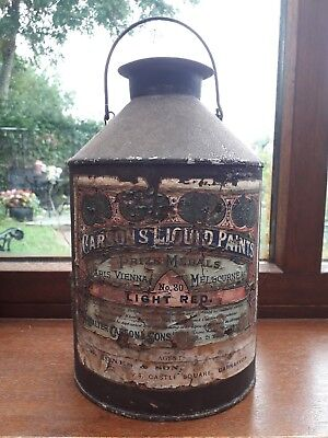 Antique paint tin Carson's liquid paints. Caernarfon   Gwynedd interest.