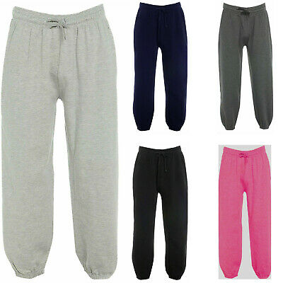 Girls Kids Fleece Jogging Bottoms Nightwear Sweat Joggers Pants Age 5 - 13 Years