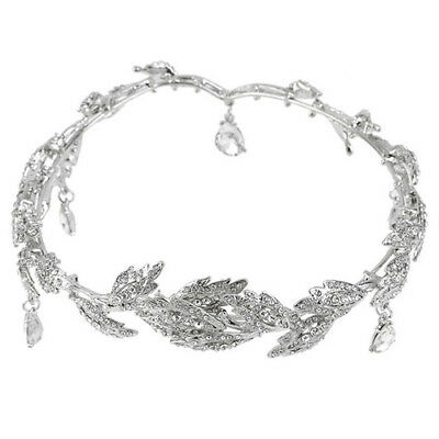 Elegant Bridal Rhinestone crystal prom hair chain forehead band Headpiece ( N3F5