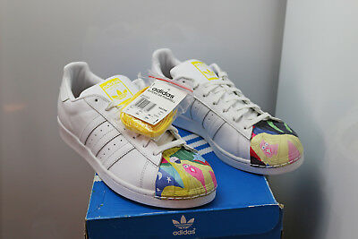 4a6145cae69 adidas Superstar Pharrell S83356 Men Leather Shoes White Yellow Todd James  NEW