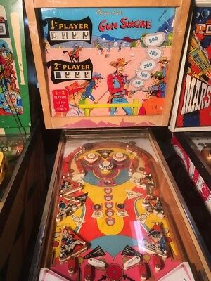 1968 Chicago Coin Pinball Machine Gun Smoke Rare EM Score Reels