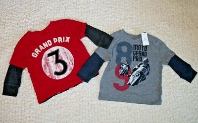 NEW Baby Gap Size 12-18 months 12 18 Boys Clothes Lot Toddler Shirt Top Long LS