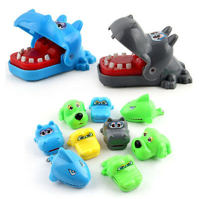 Cartoon Cute Dog Shark Colorful Bite Hand Toy Hippo Safety Material Kids Toys