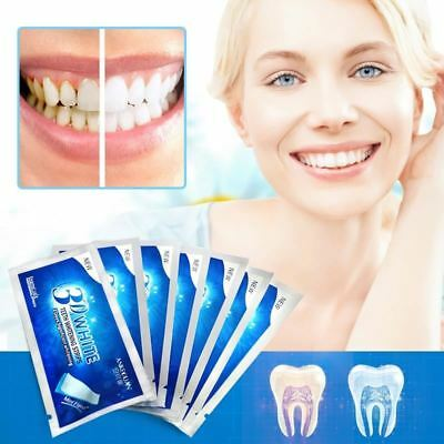 3D Whitening Gel Strips Bright White Dental Treatment Teeth Whitening