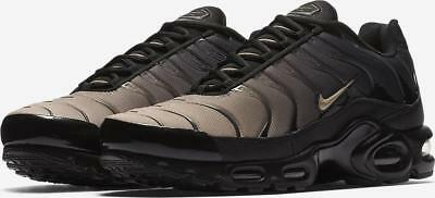 finest selection b0885 591dd NIKE AIR MAX PLUS Tn TUNED AIR 852630 026 BLACK/SAND KHAKI/ANTHRACITE GREY  -MESH