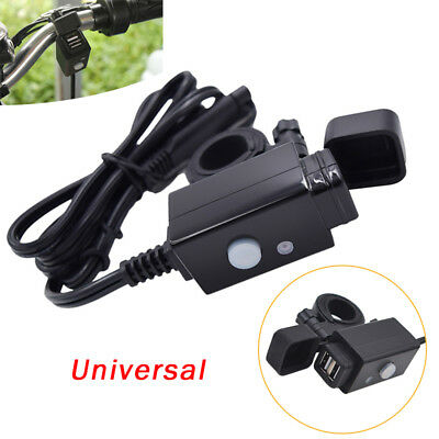 ABS+PVC Motorcycle SAE to USB Cable Charger Adapter 2.1A Dual Ports Power Socket