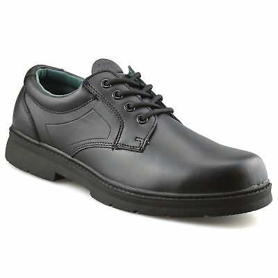 Mens Leather Smart Casual Comfort Lace Up Work Office Formal Derby Shoes Size
