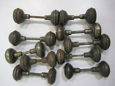 10 Pair/Sets Asstd Antique Vtg Steel&Plated Door Knobs (20) Repurpose Restore #B