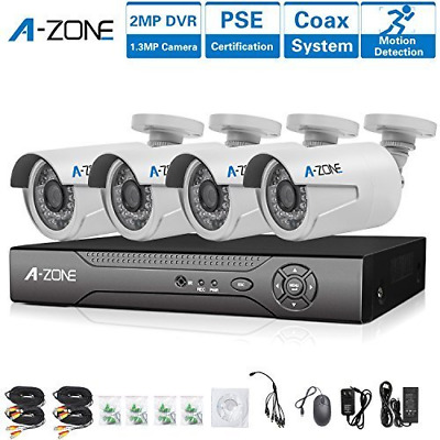 Security Camera Systems 8 Channel DVR Recorder 4 x HD 960P Cameras Night Vision