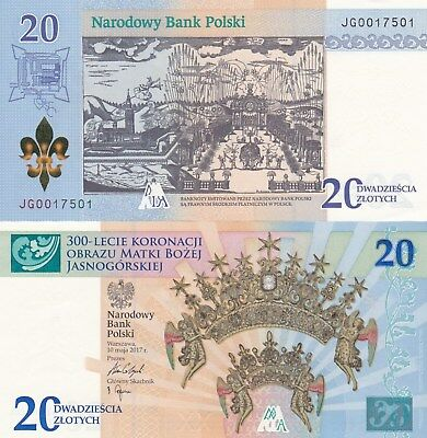 Poland 2017 Commemorative Banknotes 20 Zlotych With Folder UNC