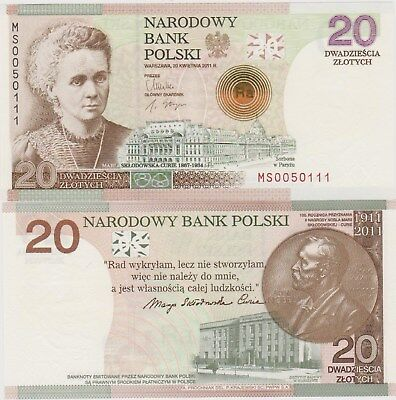 Poland 2011 Commemorative Banknotes 20 Zlotych With Folder UNC