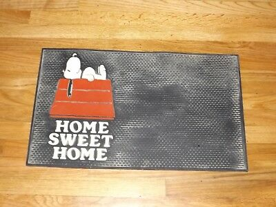 Vintage 1958 Peanut Snoopy Home Sweet Home Door Mat United Feature Syndicate