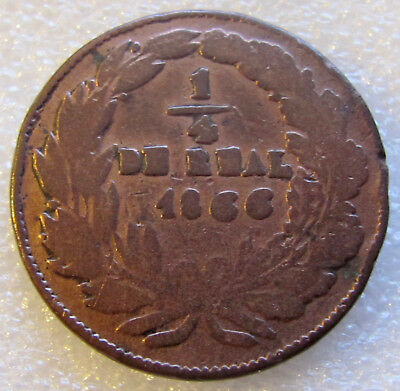 1866 Chihuahua 1/4 Real Copper