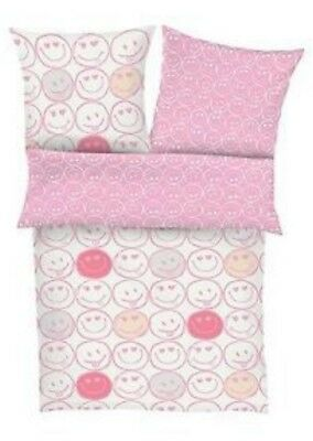 """s.Oliver Baby Flanell Bettwäsche /""""Points/"""" rosa 100x135 cm"""