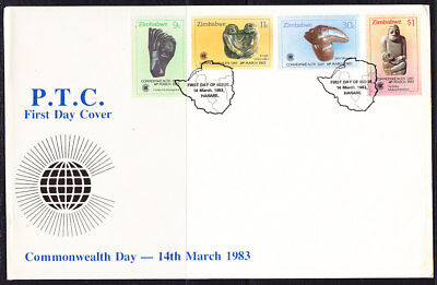 Zimbabwe 1983 Commonwealth Day LARGE First Day Cover