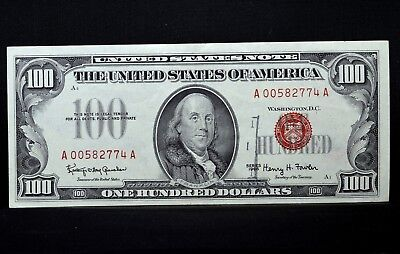 1966 $100 United States Note ✪ Au Almost Uncirculated ✪ Legal Tender 74◢Trusted◣