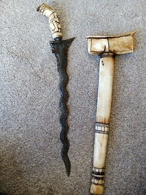 Antique Indonesian Java Kris Keris Sword Dagger
