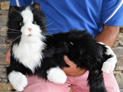 Joy For All -Black and White Robotic Companion Cat for People with Alzheimer's