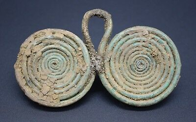 Impressive late Bronze Age spectacle brooch C. 900 - 700 BC