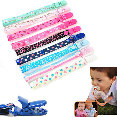 CN_ Baby Boy Girl Kids Dummy Pacifier Soother Nipple Leash Strap Chain Clip Ho