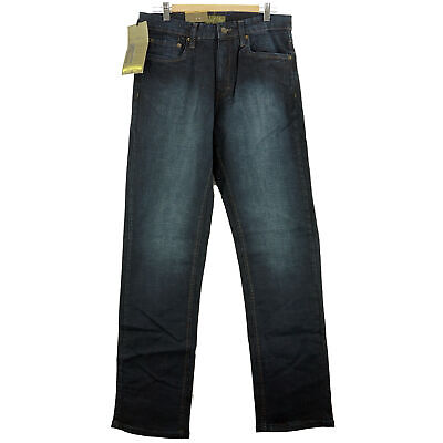 Urban Star Men's (32x34) Relaxed Fit Straight Leg Jeans Midnight Blue