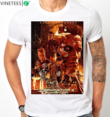TERMINATOR 2 JUDGMENT DAY T2 RETRO ARNOLD SCHWARZENEGGER SKYNET MENS T Shirt