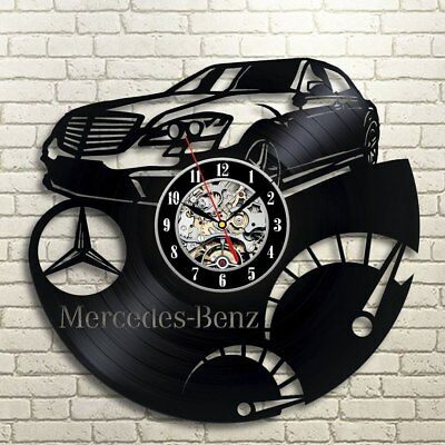 Mercedes-Benz Vinyl Record Wall Art Clock Car Clock Gift Idea For Cars Lovers
