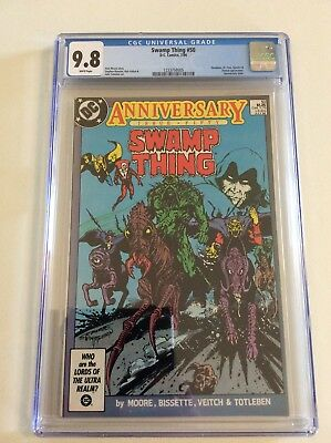 Swamp Thing #50 Cgc 9.8  White Pages!  1St Justice League Dark! Free Priority!!