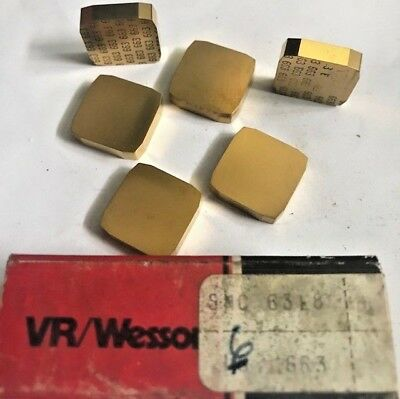 VR/WESSON FANSTEEL CARBIDE INSERTS - SNC 63L8 663 - Qty. 6 - NEW