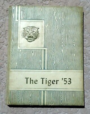 """1953 VintageRare AntiqueClewiston Florida High School Yearbook Annual """"Tiger"""""""