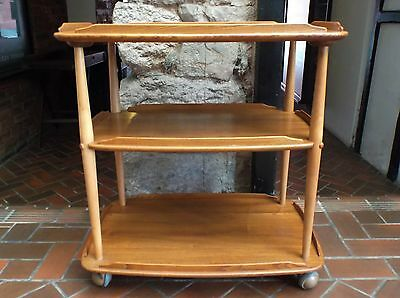 Vintage Ercol trolley, golden dawn, retro, mid-century