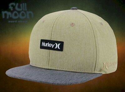 finest selection 3ffa5 5525a New Hurley Phantom One   Only Tan Mens Snapback Cap Hat