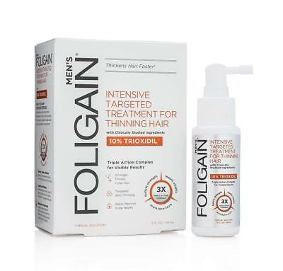 FOLIGAIN Intensive Treatment For Thinning Hair For Men with 10% Trioxidil 2 oz