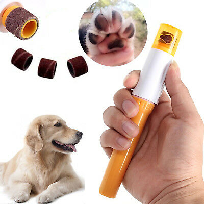 Dog Cat Pet Electric Nail Grooming Grinder Safe Trimmer Clipper Nail File Claw