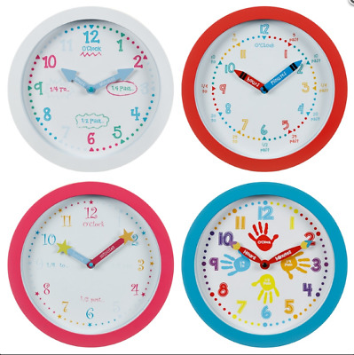 Children Nursery Learn To Tell The Time Wall Clock.