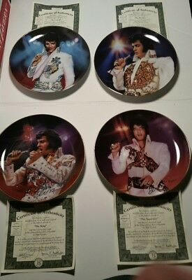 Elvis Presley collection of Bradford  Collectible Musical Plate with certificate