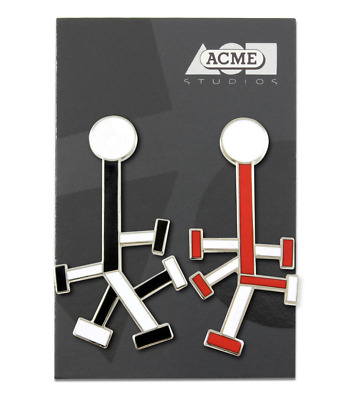 """Vintage ACME """"Praxis"""" Earrings by Architect Ettore Sottsass NEW"""