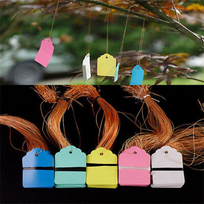 100pcs Strip Line Garden Labels Plant Hanging Tags Mini Seed Signs Hot 3.6x2.5cm