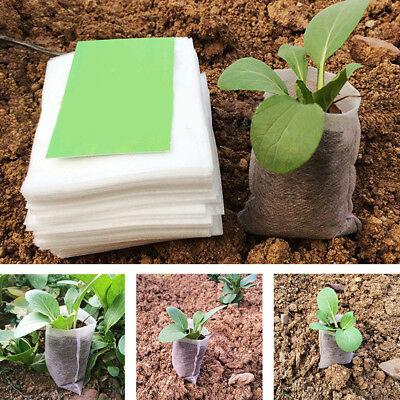 100Pcs Non-woven Fabrics Garden Supply Nursery Pots Seed Raising Bags Pouches