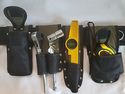 New Scaffold Naylon Tool Belt 4 Toolset 1921 Ratchet, 716 Spanner,Level & Tape