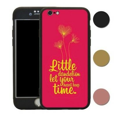 Sayings Clock Heart Time 360° Case & Tempered Glass Cover For iPhone - A1153