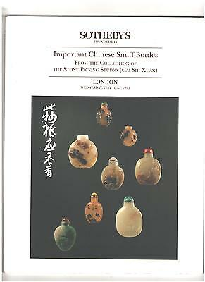 Sotheby's Catalog, Important Chinese Snuff Bottles, London, June 1995