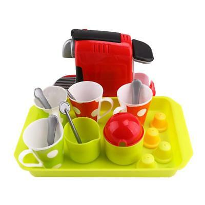 Children's Pretend Play Set Coffee Machine Afternoon Tea Play House Toys Gift