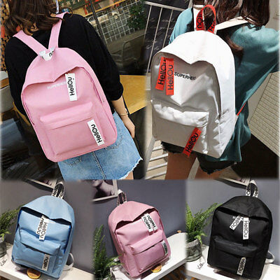 Fashion Womens Girls Canvas School Backpack Shoulder Bag Travel Rucksack Handbag