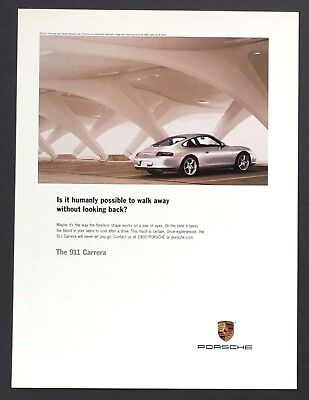 2003 Porsche Advertisement 911 Carrera Not Humanly Possible Silver Car Print AD