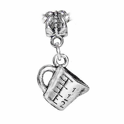 Measuring Cup Baking Chef Cooking Bake Cook Dangle Charm for European Bracelets