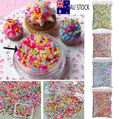 200g Polymer Clay DIY Colorful Fake Candy Sprinkles Sweet Sugar All Beauty Decor