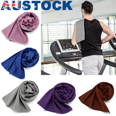 Sports Instant Cooling Towel Ice Cold Enduring Running Jogging Gym Chilly Pad AU