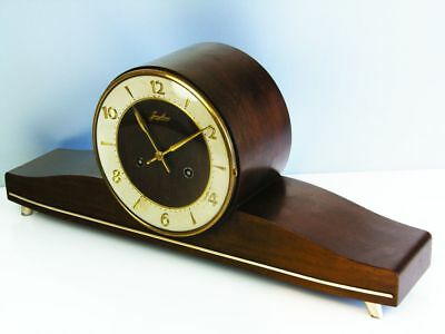Rare Beautiful Later Art Deco Junghans Chiming Mantel Clock
