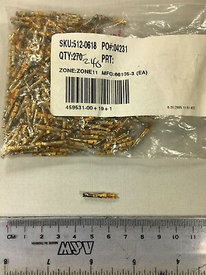 AMP 66105-3 Contact PIN TE Electronics CPC Size 20 AWG 20-24 (Lot of 10)